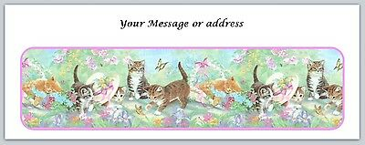 Personalized Address Labels Cute Kittens Cats Buy 3 Get 1 Free Ct 229