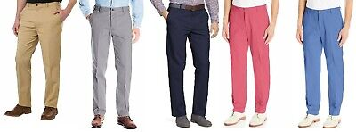 IZOD Men's Stretch Chino With Sportflex Waistband Straight Fit Flat Front Pant - Izod Flat Front