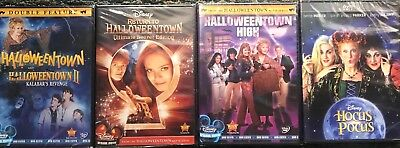 DISNEY HALLOWEENTOWN 1,2,3,4 DVD COMPLETE COLLECTION SET + HOCUS POCUS NEW! FUN! (Halloweentown 4)