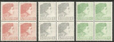 Czeslaw Slania, Sweden, Experimental printings!, block of 4