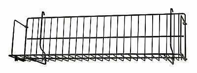 24 X 6 X 6 Inch Black Cddvdcassette Shelf - For Slatwallpegboard- Set Of 2