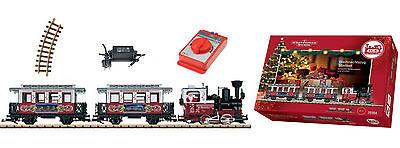 LGB 70304 Startset Weihnachtszug Dampflok Stainz + Personenzug Spur G