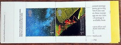 GB Booklet Pair in 2000 Minisheet from 10 x 1st Class Booklet (Se2)