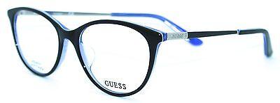 GUESS GU2565-F 001 53/17 New BLACK Authentic WOMEN Designer EYEGLASSES Frame