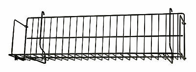 2 Black Cd Dvd Cassette Shelves Shelf 24 X 6 X 6 Slatwall Pegboard Wire Grid