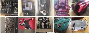 Moving sales. Sofa poster Banksy tv pool table chairs