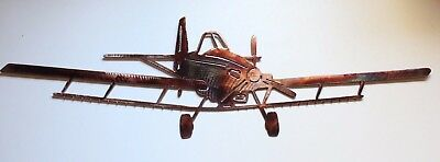 Crop Duster Metal Wall Art Decor Copper/Bronze Plated  22 1/2