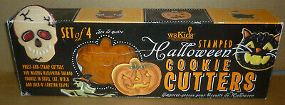 Halloween Stamped Cookie Cutters Set of 4 (Williams-Sonoma Kids)
