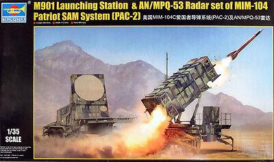 Patriot SAM System M901 + AN / MPQ -53 in 1:35 Model Kit Bausatz Trumpeter 01022