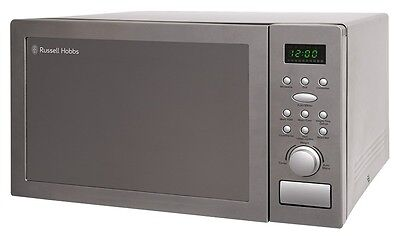 RUSSELL HOBBS STAINLESS STEEL MICROWAVE OVEN 25L RHM2574 AUTO COOK DEFROST 900W