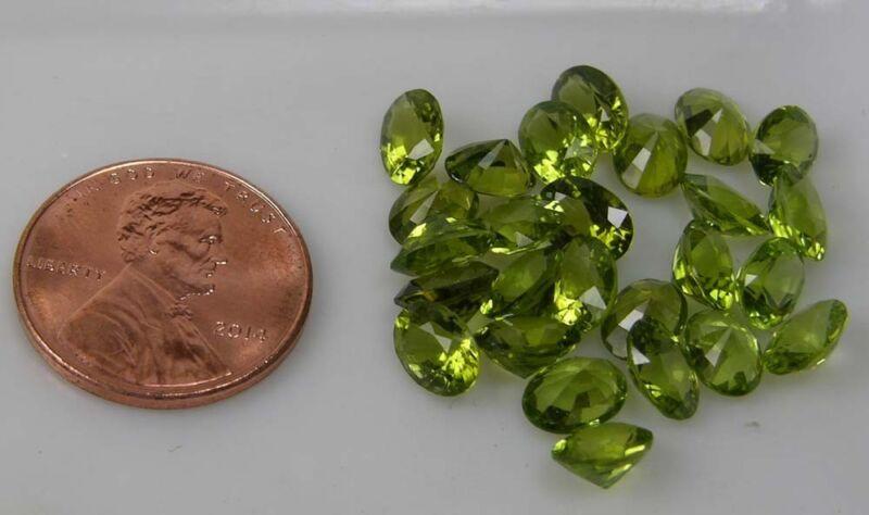 Pair 100% Natural Vietnam Peridot Oval Clean Facet Gemstone 6.50mm For Earings