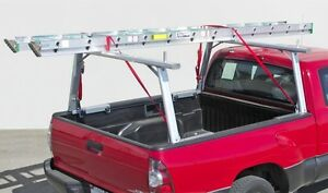 Aluminum Truck Utility Ladder Rack for Nissan Titan with Utili Trac cargo rail