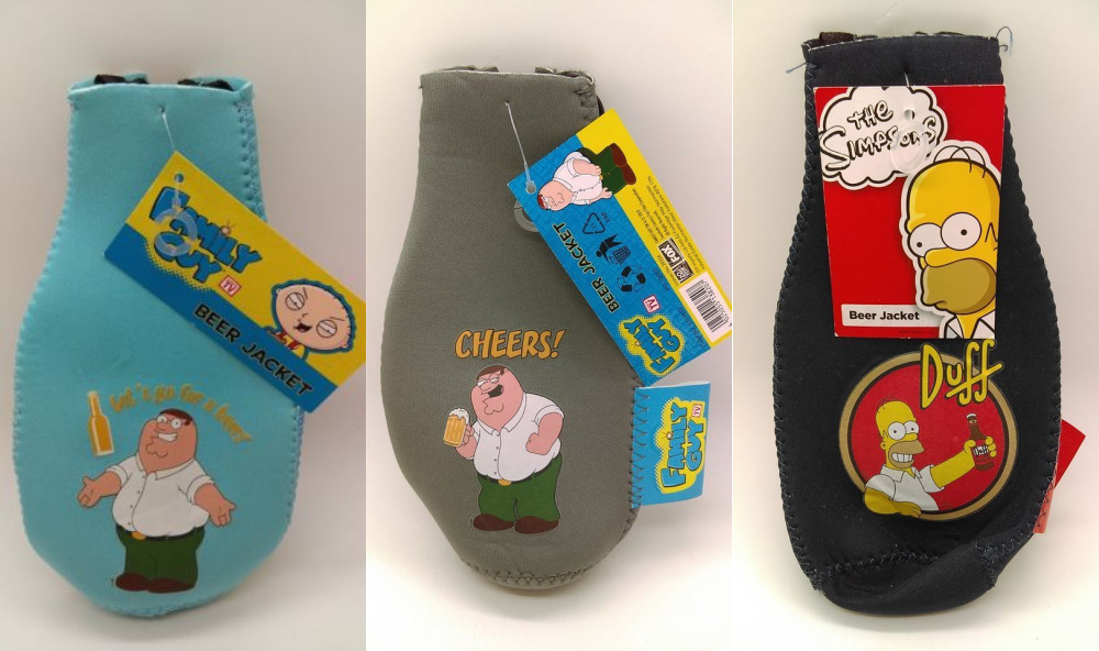 Family Guy & The Simpsons Beer Jacket Gift - 3 Designs