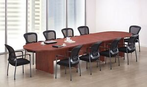 New Amber 14' Racetrack Conference/Boardroom/Meeting Room Office Table