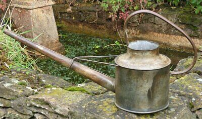 Vintage Galvanised long reach Watering can 1 gallon * cottage garden planter
