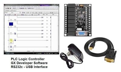 Plc Programmable Controller W Software Ladder Logic Programming Interface Gxdev