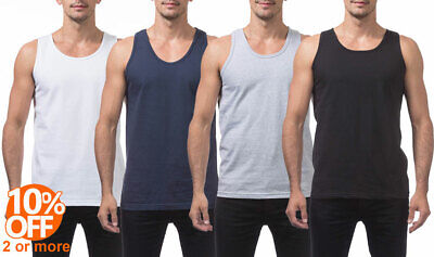 Mens Heavyweight Tank Top T-Shirt Sleeveless Workout Active Gym Athletic Clothing, Shoes & Accessories