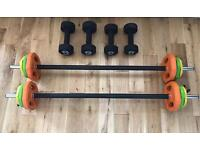 Exercise weights for sale rrp £229.99