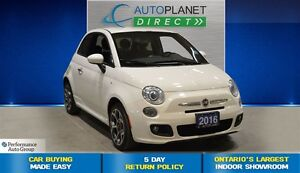 2016 Fiat 500 Sport, Bluetooth, Fog Lights, $43/Wk!