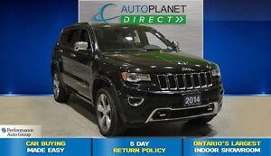 2014 Jeep Grand Cherokee Overland 4x4, Navi, Back Up Cam, $123/W