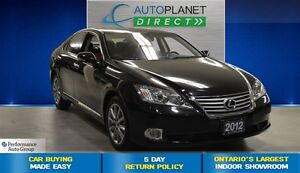 2012 Lexus ES 350 One Owner, Navi, Leather, $121/Wk!