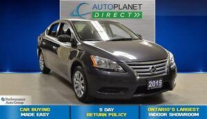 2015 Nissan Sentra 1.8 S, Ontario Vehicle, Bluetooth, $43/Wk!