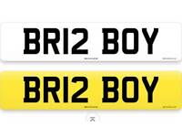 Personal number plate BR12 BOY bristol