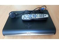 SKY+HD BOX with its remote & power lead.