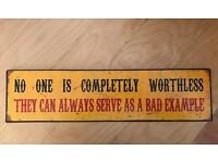 Shabby chic funny plaque - new - jokes