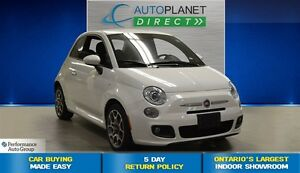 2015 Fiat 500 Sport, Alloys, Keyless, Fog Lights, $37/Wk!