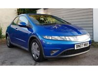 2007 HONDA CIVIC 1.4, 5 DOOR, 78,000 MILES, 1 PREVIOUS OWNER, MOT TILL MARCH 2019, DRIVES GREAT