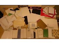 Job lot of blank cards and envelopes for card making, mixed variety of sizes
