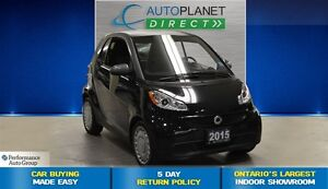 2015 smart fortwo One Owner, Heated Seats, $34/Wk!