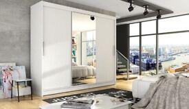 🔲🔳GET IT NOW🔲🔳 BRAND NEW BERLIN 2 OR 3 DOOR MODERN SLIDING WARDROBE IN BLACK, WALNUT, WHITE
