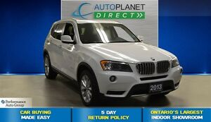 2013 BMW X3 xDrive35i, Clean Carproof, Navi, Sunroof, $123/Wk!