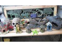 fish tank ornaments and bubble machine