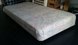 small single bed. length 173cm x 77cm width. In good condition.