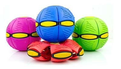 UFO Frisbee Flat Silicone Throw Disc Deformed Catch Ball