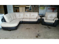 Pending Collection Leather Corner Recliner Suite