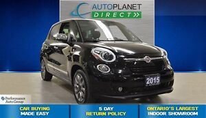 2015 Fiat 500L Lounge, Pano Roof, Bluetooth, Navi, $56/Wk!