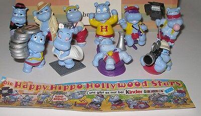"Komplett Satz ""Happy Hippo Hollywoodstars"" mit Zettel"