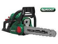 "Qualcast 45cc 18"" Toolless Petrol Chainsaw + WARRANTY! RRP £120!"