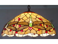 Art Nouveau dragonfly Tiffany style stained glass pendant ceiling light/lampshade