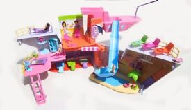 Polly Pocket Cruise Ship, figures and accessories.
