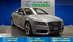 2012 Audi S5 4.2L Premium Quattro, Navi, Glass Roof, $166/Wk!