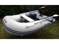 HonWave RIB inflatable boat + electric outboard, ideal for fishing