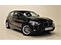 BMW 1 SERIES 1.6 116D EFFICIENTDYNAMICS 5d 114 BHP + 1 OWNER + (black) 2012