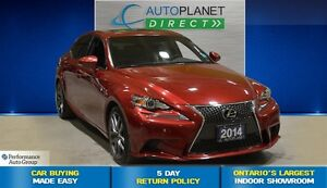 2014 Lexus IS 350 F-Sport AWD, Sunroof, Bluetooth, $141/Wk!