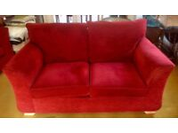 For sale - Dark red two seater Sofa & Armchair £80 ono