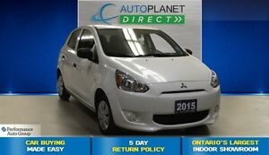 2015 Mitsubishi Mirage ES, Ontario Vehicle, Bluetooth, $34/Wk!